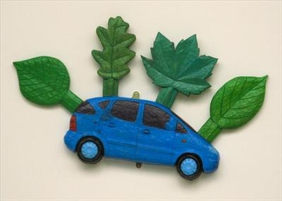 Blue Foliate Car