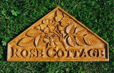 Rose Cottage, House Sign