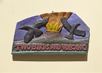 Two Birds and Volcano