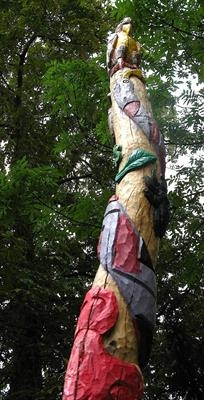 Detail of one BAB Totem Pole