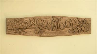 Tanglewood House Sign, photo 2, different camera.