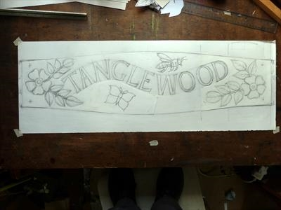 Tanglewood House Sign, final drawing