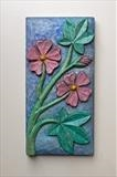 Common Mallow 2 by Jeremy Turner, Wood, carved wood relief on Lime