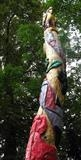 Detail of one BAB Totem Pole by Jeremy Turner, Sculpture