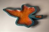 Ivy Leaf Dish by Jeremy Turner, Wood, carved and painted wood