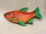 Red Leaping Roach Fish Dish by Jeremy Turner, Wood