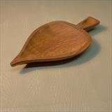Small Leaf Dish by Jeremy Turner, Wood, ash