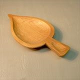 Small Leaf Dish by Jeremy Turner, Wood, lime