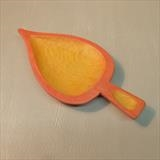 Small Leaf Dish, in yellow and red by Jeremy Turner, Wood, cedar