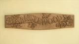 Tanglewood House Sign, photo 2, different camera. by Jeremy Turner, Wood