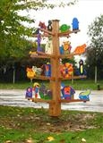 The Kibworth Story Tree by Jeremy Turner, Sculpture, Wood