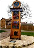 The Littleport Town Sign by Jeremy Turner, Sculpture, Oak