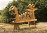 The Swan Pond Dipping Bench, Foxton Locks, Market Harborough by Jeremy Turner, Wood