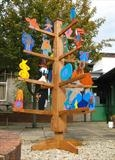 The West Kidlington Story Tree by Jeremy Turner, Sculpture, Oak