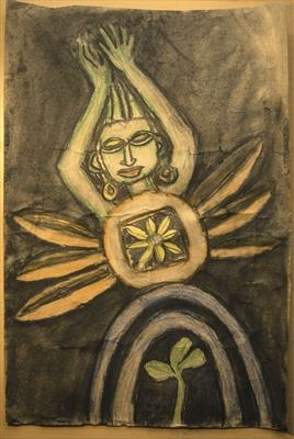That Whole Kutch Thing! by Jeremy Turner, Drawing, charcoal and pastel on brown paper